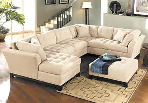 3pc Sectional Sofa Cindy Crawford Metropolis Vanilla 3pc Sectional Living