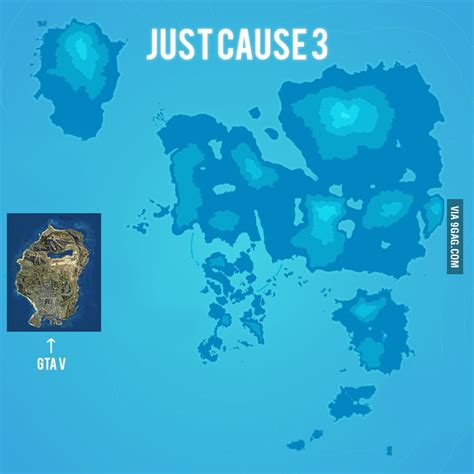 just cause 3 map size gta v and just cause 3 map size comparison 9gag