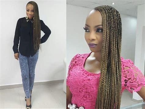 pictures of nigerian long braids toke makinwa debuts super long braids bellanaija