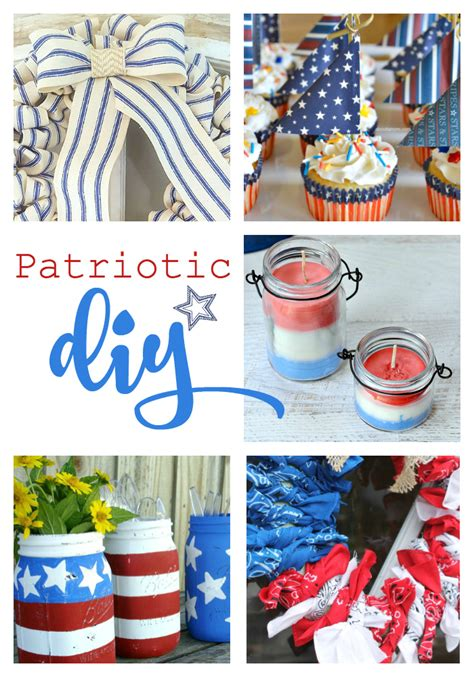 patriotic decorating ideas diy patriotic projects link party cherished bliss