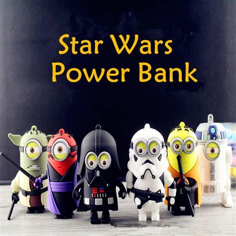 Papoy Minion Starwars Powerbank Yoda 8800mah Minions Cos Darth Vader Stormtrooper Power Bank