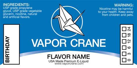 Vapor Crane E Liquid Branding On Behance E Liquid Label Template Free
