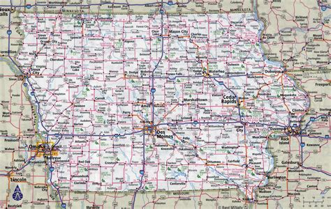 iowa state map large detailed roads and highways map of iowa state with cities vidiani maps of all