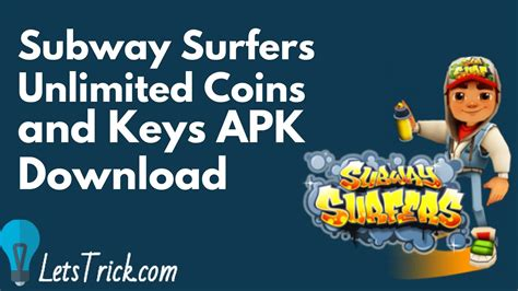 subway surfers coin hack apk subway surfers unlimited coins and apk letstrick