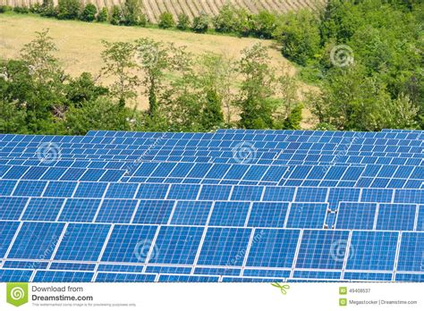 blue solar energy panels stock photo image 49408537