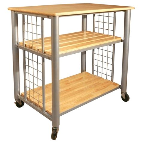 Kitchen Cart With Shelves by Catskill Craftsmen Contemporary Kitchen Cart With