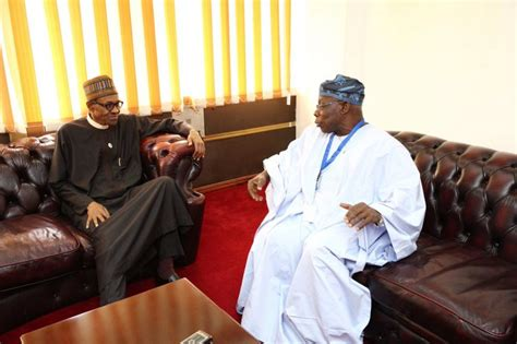 obasanjo in closed door meeting with buhari in kenya