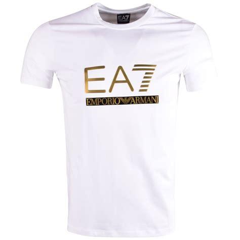 Armani T Shirt emporio armani ea7 emporio armani ea7 white printed logo t