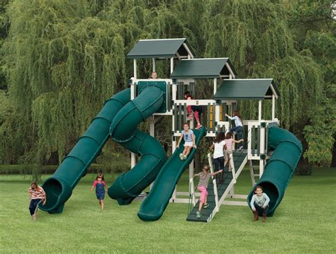 Kid's Outdoor Playsets Kid's Vinyl Swing Sets