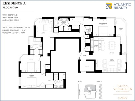 versailles florida floor plan faena versailles classic new miami florida beach homes