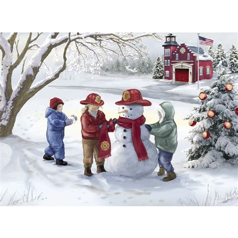 firefighter christmas cards the danbury mint