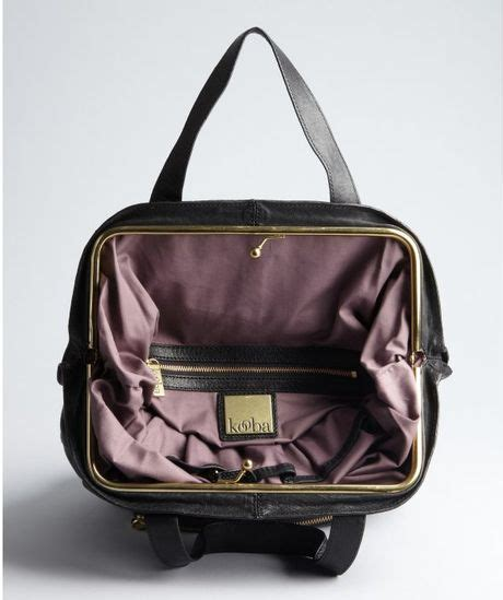 Kooba Toby Slouchy Covertible Backpack by Kooba Black Leather Convertible Tote In Black Lyst