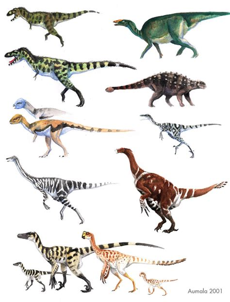 what color are dinosaurs jurassic animals list