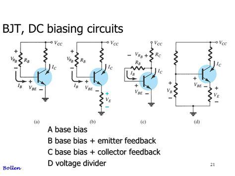 base bias with emitter resistor bjt bipolar junction transisor ppt