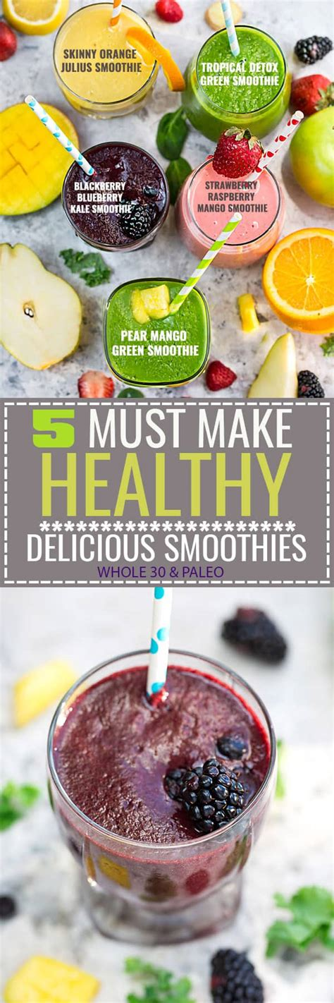 Healthy Breakfast Detox Smoothies by 5 Healthy Delicious Detox Smoothies Made