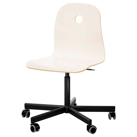 V 197 Gsberg Sporren Swivel Chair White Black Ikea White Swivel Chair Ikea
