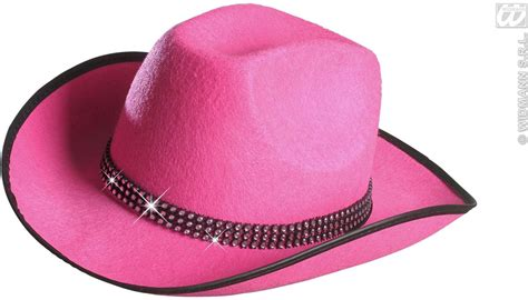 Cowboy Hat Pink buy cowboy hat felt w strass band pink fancy dress