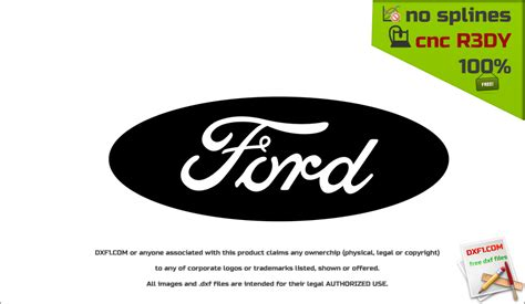 logo ford vector free dxf files for cnc machines ford logotype dxf for