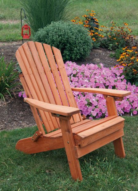 Western Red Cedar Folding Reclining Adirondack Chair Western Cedar Outdoor Furniture