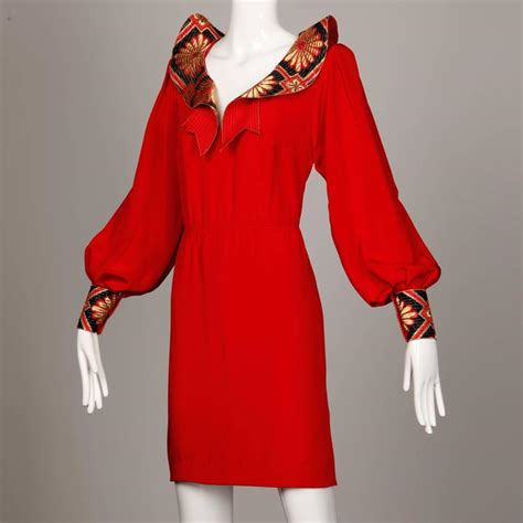 amen wardy amen wardy vintage asian inspired red silk dress with