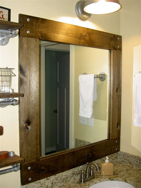 how to frame a bathroom mirror with wood framed mirrors for bathrooms decofurnish