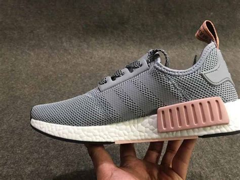 newest adidas nmd r1 primeknit grey pink s casual sneakers shoes cheapmass net