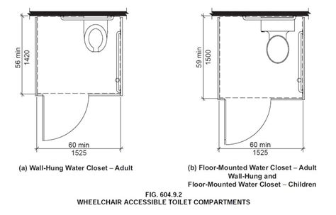 Ada Water Closet Dimensions by Water Closet Compartment Dimensions Crafts