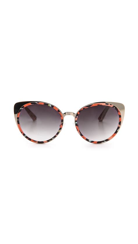 Cat Eye Original Orange matthew williamson printed cat eye sunglasses blue leopard lyst