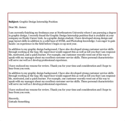 cover letter exle for un internship sle graphic design cover letter 8 exles in word pdf