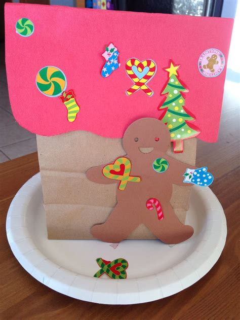 gingerbread house daycare preschool crafts gingerbread house