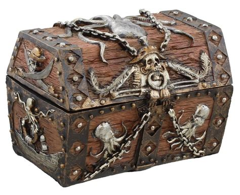 treasure chest pirates treasure chest jewelry ring trinket stash box