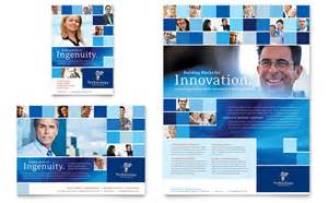 ad templates technology consulting it flyer ad template design