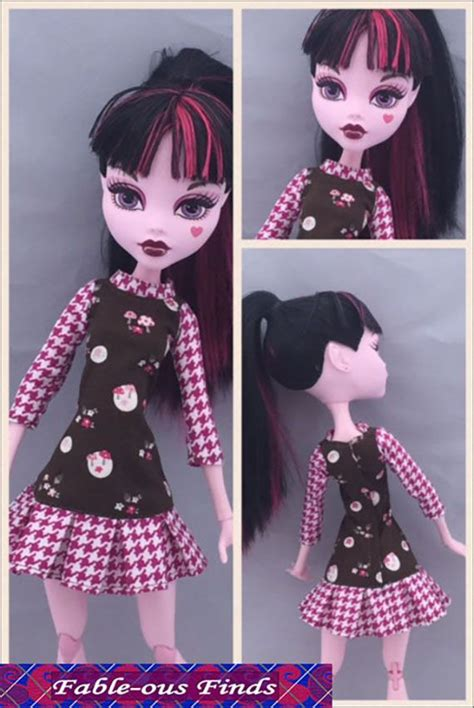 picture sewing pinterest patterns and dolls sporty dress sewing pattern for 17 quot monster high dolls