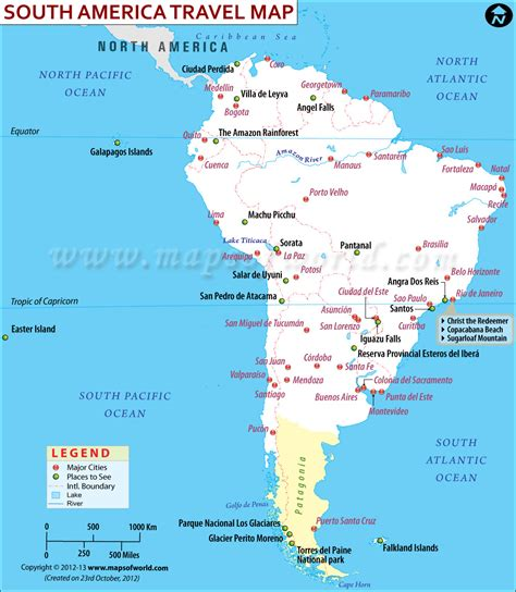 south america map directions south america travel information map tourist