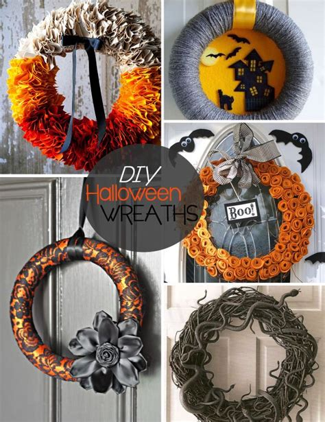 diy wreath ideas 20 diy halloween wreath ideas