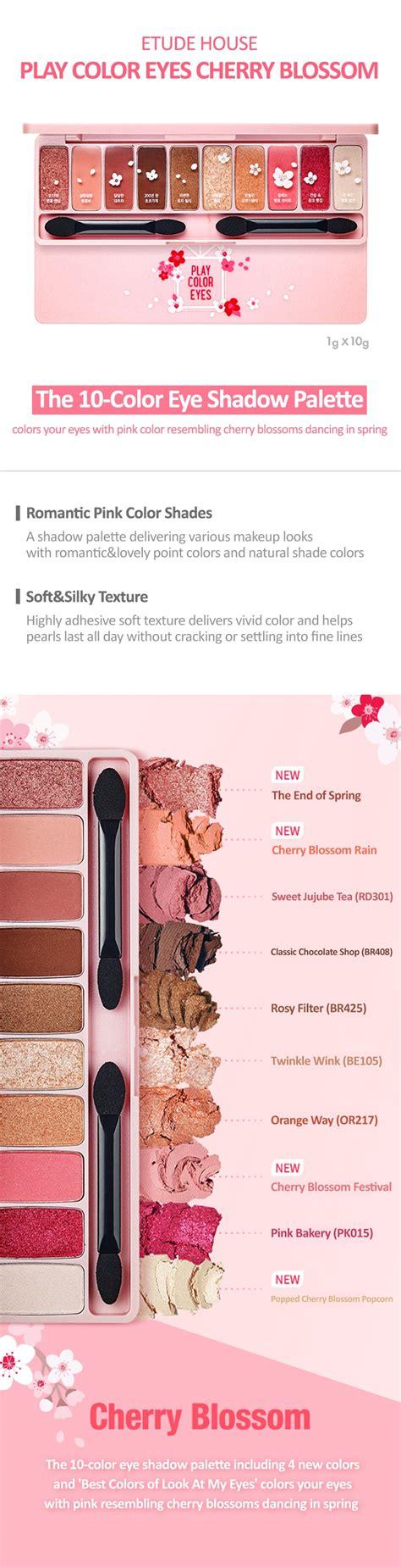 Etude House Play Color Eyeshadow Cherry Blossom Pink etude house play color cherry blossom eye palette