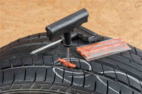 Car Tyres Puncture Repair by Guide How To Repair A Tubeless Tyre Puncture All About