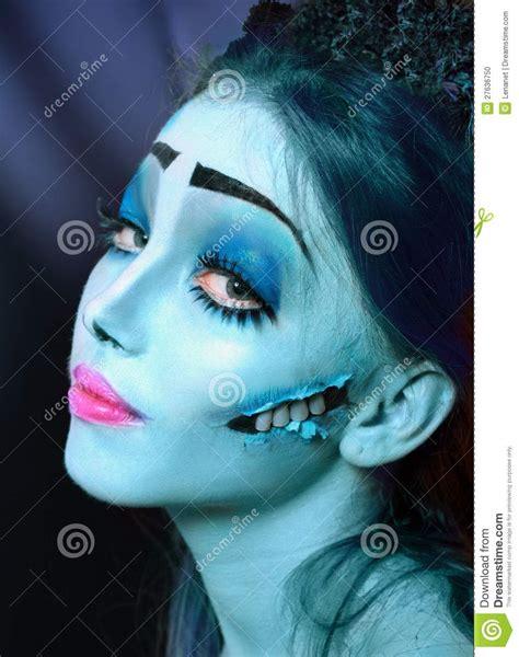 imagenes de halloween maquillage novia del cad 225 ver bajo luz de luna azul foto de archivo