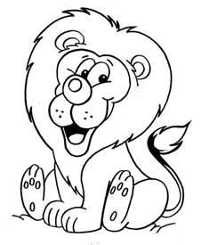 Attractive Jeu De Halloween Gratuit Pour Fille #7: Coloriage-lion.jpg