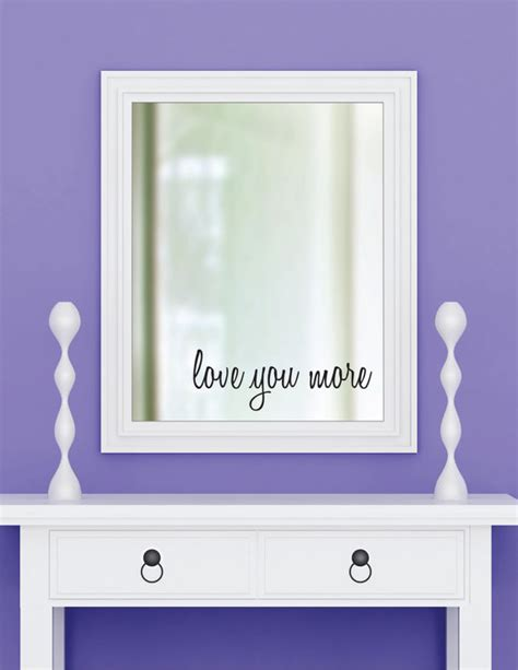 Bathroom Mirror Stickers You More Vinyl Wall Decal Sticker Bathroom Mirror