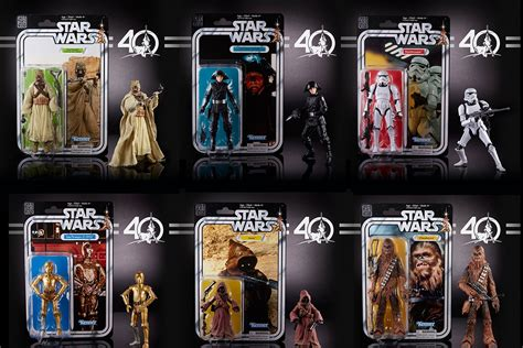 40th Anniversary Wars Black Series Wave Ii wars 40th anniversary black series 6 inch figures wave 2 by hasbro actionfiguresdaily