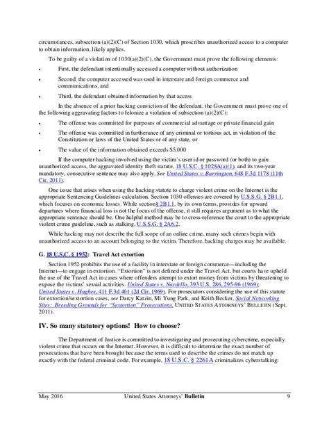 18 usc section 1030 fbi manual on cyberstalking crimes 18 usc 2261