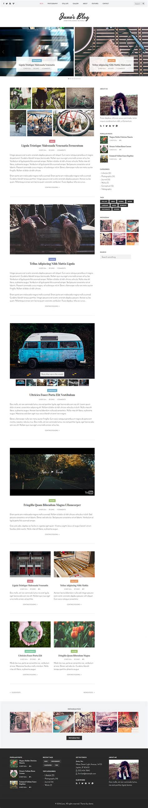 Photography Wordpress Template by 50 Best Photography Themes Themes
