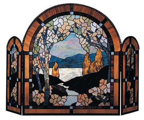 177 best images about stained glass fireplace screens on