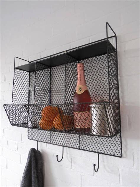 Wire Wall Racks by Kitchen Storage Metal Wire Wall Rack Shelving Display