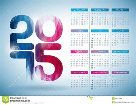 design calendar background vector calendar 2015 illustration with abstract color