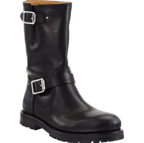 black motorbike boots 187 jimmy choo black leather motorcycle boot at cpu