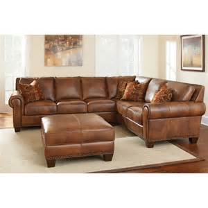 Brown Leather Sectional With Ottoman Square Ottoman Coffee Table With L Shaped Brown Leather In Square Broken White Rug