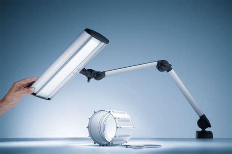 industrial led task lighting waldmann taneo articulating arm led task light