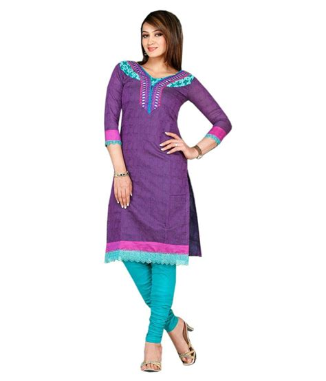 Arista Purple arista designer purple cotton kurti with buy